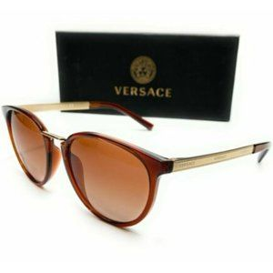 Versace Women's Brown Pilot Sunglasses!